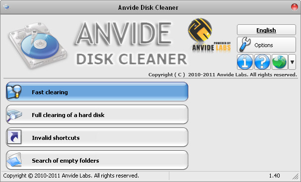 Click to view Anvide Disk Cleaner screenshots